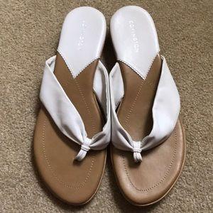 Covington White Flip Flops 8 1/2